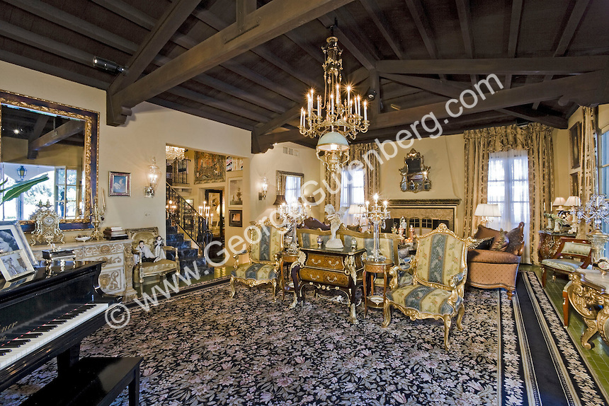 Living room in Liberace's home in Palm Springs