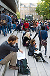 Students outside Edinburgh University Library, September 2011. Photo copyright Graham Harrison.