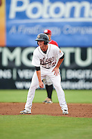 Frederick Keys first baseman Cameron Kneeland (39) leads off second during a game against the Carolina Mudcats on June 4, 2016 at Nymeo Field at Harry Grove Stadium in Frederick, Maryland.  Frederick defeated Carolina 5-4 in eleven innings.  (Mike Janes/Four Seam Images)