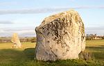 Adam and Eve standing stones, Longstone Cove, Beckhampton Avenue, Avebury, Wiltshire, England, UK