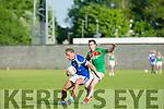 In Action KOR's Gile O'Grady and Kilcummin's Michy O'Shea in the Credit Union County Senior Football League Div. 1 Kerins O'Rahilys Vs Kilcummin at Strand Road GAA Ground on Friday