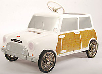 BNPS.co.uk (01202 558833)<br /> Pic: EastBristolAuctions/BNPS<br /> <br /> £2000 - A rare vintage 1960's Leeway made ' Mini Cooper S ' child's pedal car<br />   <br /> Toy story...<br /> <br /> A remarkable lifetime collection of 30 vintage toy cars has emerged for sale for more than £65,000.<br /> <br /> The fleet of rare pedal cars were acquired over almost half a century by retired car garage owner David Worrow, 72.<br /> <br /> During their time with Mr Worrow they formed what was believed to be the biggest private collection of its kind in the world.