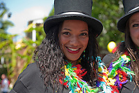 Woman-in-black-dress-and-top-hat, LA Pride 2010 West Hollywood, CA Parade