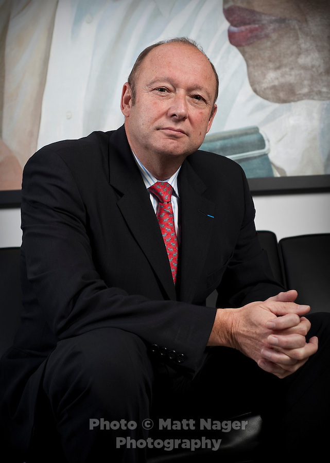 President and Cheif Executive Officer of American Eurocopter Marc Paganini (cq) at his Dallas, Texas office, Friday, Oct., 9, 2009. Paganini, originally from France, handled the initial public offering on Wall Street for the comany, and went to Dallas to run the company's first American manufacturing plant.