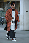 Street style fashion from day one of London Collections Men on 6th January 2017.