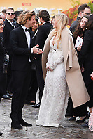 "Dougie Poynter and Ellie Goulding<br /> arriving for the world premiere of ""Our Planet"" at the Natural History Museum, London<br /> <br /> ©Ash Knotek  D3491  04/04/2019"