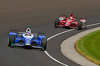 Verizon IndyCar Series<br /> Indianapolis 500 Carb Day<br /> Indianapolis Motor Speedway, Indianapolis, IN USA<br /> Friday 26 May 2017<br /> Takuma Sato, Andretti Autosport Honda, Graham Rahal, Rahal Letterman Lanigan Racing Honda<br /> World Copyright: F. Peirce Williams
