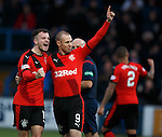 Andy Halliday celebrates with goal scorer Kenny Miller
