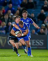 28th February 2020; RDS Arena, Dublin, Leinster, Ireland; Guinness Pro 14 Rugby, Leinster versus Glasgow; Sean Cronin (Leinster) drives in to a tackle from George Horne (Glasgow Warriors)