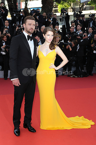 Anna Kendrick and Justin Timberlake  at &quot;Cafe Society&quot; &amp; Opening Gala arrivals - The 69th Annual Cannes Film Festival, France on May 11, 2016.<br /> CAP/LAF<br /> &copy;Lafitte/Capital Pictures /MediaPunch ***NORTH AND SOUTH AMERICAN SALES ONLY***