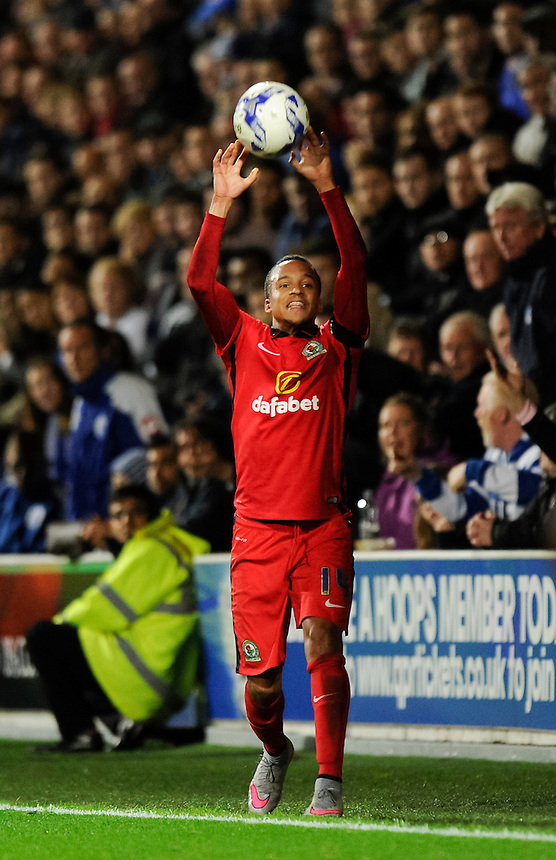 Blackburn Rovers' Marcus Olsson in action during todays match  <br /> <br /> Photographer Ashley Western/CameraSport<br /> <br /> Football - The Football League Sky Bet Championship - Queens Park Rangers v Blackburn Rovers - Wednesday 16th September 2015 - Loftus Road - London <br /> <br /> &copy; CameraSport - 43 Linden Ave. Countesthorpe. Leicester. England. LE8 5PG - Tel: +44 (0) 116 277 4147 - admin@camerasport.com - www.camerasport.com