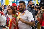 Spanish's paralympic Kim Lopez Gonzalez arrive to Madrid Adolfo Suarez airport after the Paralympics of Rio 2016 . September 21, 2016. (ALTERPHOTOS/Rodrigo Jimenez)