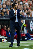 17th March 2019, Mestalla Stadium, Valencia, Spain; La Liga football, Valencia versus Getafe; Getafe manager Jose Bordalas gestures to his players