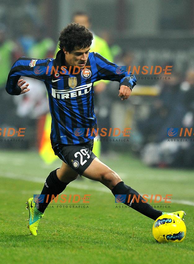 """COUTINHO (Inter).Milano 19/11/2011 Stadio """"Giuseppe Meazza"""".Serie A 2011/2012.Football Calcio Inter Vs Cagliari.Foto Insidefoto Alessandro Sabattini."""