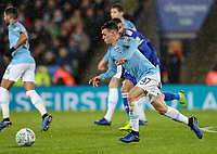 Manchester City 's  Phil Foden breaks<br /> <br /> Photographer Andrew Kearns/CameraSport<br /> <br /> English League Cup - Carabao Cup Quarter Final - Leicester City v Manchester City - Tuesday 18th December 2018 - King Power Stadium - Leicester<br />  <br /> World Copyright © 2018 CameraSport. All rights reserved. 43 Linden Ave. Countesthorpe. Leicester. England. LE8 5PG - Tel: +44 (0) 116 277 4147 - admin@camerasport.com - www.camerasport.com