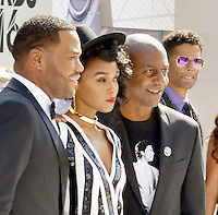 LOS ANGELES, CA - JUNE 26: Anthony Anderson, Janelle Monae, Stephen Hill, Eric Benet at the 2016 BET Awards at the Microsoft Theater on June 26, 2016 in Los Angeles, California. Credit: Koi Sojer/MediaPunch