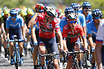 New race leader Dylan Teuns (BEL) Bahrain-Merida cools down during Stage 7 of La Vuelta 2019 running 183.2km from Onda to Mas de la Costa, Spain. 30th August 2019.<br /> Picture: Luis Angel Gomez/Photogomezsport | Cyclefile<br /> <br /> All photos usage must carry mandatory copyright credit (© Cyclefile | Luis Angel Gomez/Photogomezsport)