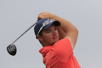 Sam Horsfield (ENG) tees off the 2nd tee during Saturday's Round 3 of the 2018 Dubai Duty Free Irish Open, held at Ballyliffin Golf Club, Ireland. 7th July 2018.<br /> Picture: Eoin Clarke | Golffile<br /> <br /> <br /> All photos usage must carry mandatory copyright credit (&copy; Golffile | Eoin Clarke)