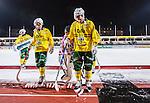 Stockholm 2013-12-03 Bandy Elitserien Hammarby IF - Ljusdals BK :  <br /> Ljusdal Mathias Stavis och Ljusdal Kalle M&aring;rtensson deppar efter matchen<br /> (Foto: Kenta J&ouml;nsson) Nyckelord:  depp besviken besvikelse sorg ledsen deppig nedst&auml;md uppgiven sad disappointment disappointed dejected