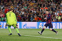 Gol Lionel Messi Barcellona Goal celebration <br /> Barcellona 06-05-2015 Camp Nou Football Calcio 2014/2015 Champions League Semifinale Barcellona - Bayern 3-0<br /> Foto EXPA/ Eibner-Pressefoto/ Schueler/Insidefoto