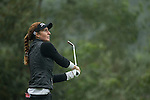 Florentyna Parker of England tees off at the 2nd hole during Round 3 of the World Ladies Championship 2016 on 12 March 2016 at Mission Hills Olazabal Golf Course in Dongguan, China. Photo by Victor Fraile / Power Sport Images