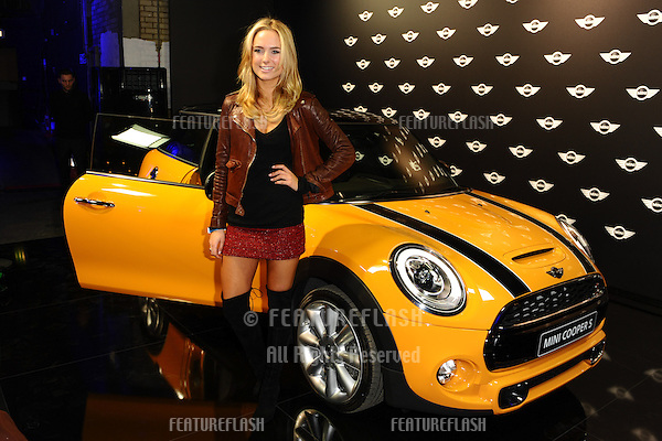 Kimberley Garner arriving for the World Premiere Of The New MINI at The Old Sorting Office, London. 18/11/2013 Picture by: Steve Vas / Featureflash