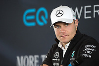 Valtteri Bottas of Mercedes-AMG Petronas Motorsport during the Mercedes-AMG F1 W09 EQ Power+ 2018 F1 Car Launch at Silverstone, England on 22 February 2018. Photo by Vince  Mignott.