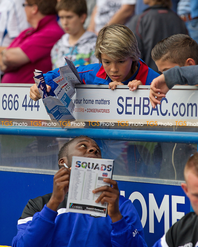 Home fans seek an autograph - Ipswich Town vs Millwall - Sky Bet Championship Football at Portman Road, Ipswich, Suffolk- 10/08/13 - MANDATORY CREDIT: Ray Lawrence/TGSPHOTO - Self billing applies where appropriate - 0845 094 6026 - contact@tgsphoto.co.uk - NO UNPAID USE
