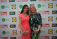 19/05/2015 <br /> Cherith Andrews &amp; Joanne friel <br /> <br /> during the Irish mirror pride of Ireland awards at the mansion house, Dublin.<br /> Photo: gareth chaney Collins