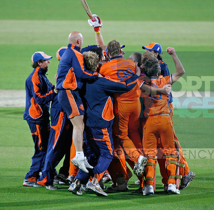 Holland celebrate victory over England.
