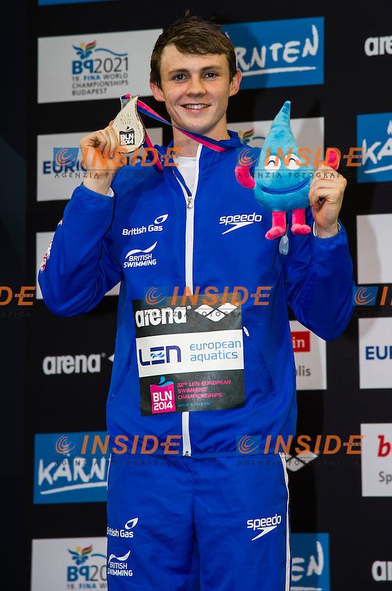 MURDOCH Ross GBR  Silver Medal<br /> 200m Breaststroke Men Final<br /> 32nd LEN European Championships <br /> Berlin, Germany 2014  Aug.13 th - Aug. 24 th<br /> Day09 - Aug. 21<br /> Photo G. Scala/Deepbluemedia/Inside