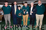 Pictured at the Presidents Prize to the Juniors in Waterville on Sunday were l-r; Padraig Maher(Junior Captain), Aidan O'Connell(Captain), Tristan Huggard Presidents Junior Shield Winner, Patrick Devane(Presidents Cup Winner, Frank Stephenson(President) & Vernon Devane(Junior Officer).