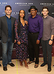 "Steven Pasquale, Kerry Washington, Eugene Lee, and Jeremy Jordan attend the Cast photo call for the New Broadway Play ""American Son"" on September 14, 2018 at the New 42nd Street Studios in New York City."