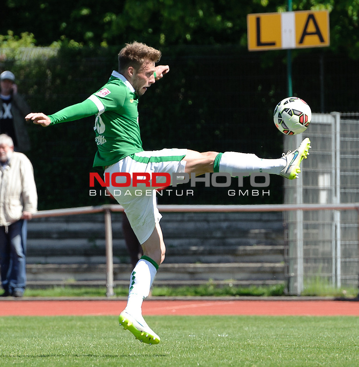 10.05.2015, Platz 11, Bremen, GER, RLN, Werder Bremen II vs L&uuml;neburger SK, im Bild Max Wegner (Bremen #36)<br /> <br /> Foto &copy; nordphoto / Frisch