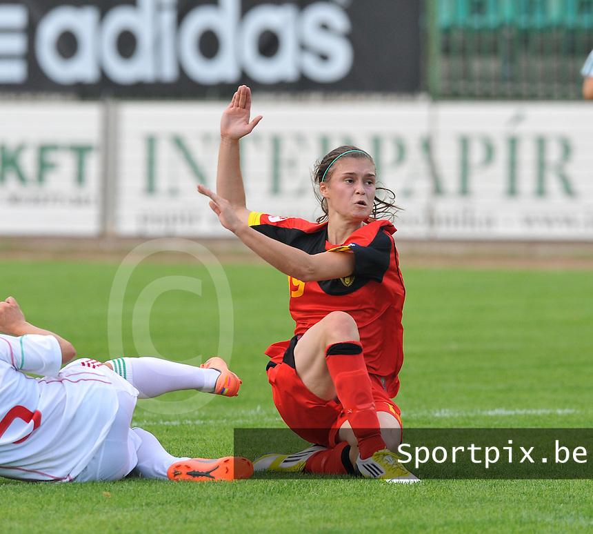 Hungary - Hongarije : UEFA Women's Euro Qualifying group stage (Group 3) - 20/06/2012 - 17:00 - szombathely  - : Hungary ( Hongarije ) - BELGIUM ( Belgie) : Anaelle Wiard.foto DAVID CATRY / JOKE VUYLSTEKE / Vrouwenteam.be.