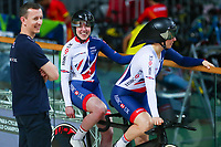 Picture by Alex Whitehead/SWpix.com - 21/03/2018 - Cycling - 2018 UCI Para-Cycling Track World Championships - Rio de Janeiro Municipal Velodrome, Barra da Tijuca, Brazil - Great Britain's Lora Fachie and Corrine Hall.