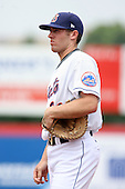 July 7th 2008:  First baseman Nick Evans of the Binghamton Mets, Class-AA affiliate of the New York Mets, during a game at NYSEG Stadium in Binghamton, NY.  Photo by:  Mike Janes/Four Seam Images