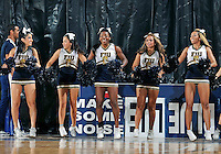Florida International University Cheerleaders perform during the game  against Lynn University.  FIU won the game 68-30 on November 30, 2011 at Miami, Florida. .