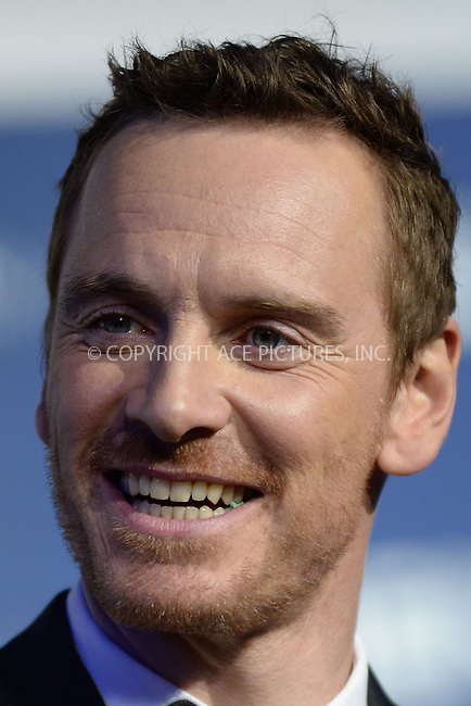 WWW.ACEPIXS.COM<br /> May 10, 2014 New York City<br /> <br /> Michael Fassbender attending the 'X-Men: Days Of Future Past' world premiere at Jacob Javits Center onMay 10, 2014 in New York City.<br /> <br /> Please byline: Kristin Callahan<br /> <br /> ACEPIXS.COM<br /> <br /> Tel: (212) 243 8787 or (646) 769 0430<br /> e-mail: info@acepixs.com<br /> web: http://www.acepixs.com