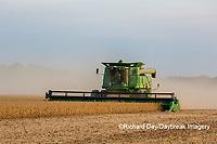 63801-07914 Soybean Harvest John Deere combine Marion Co. IL