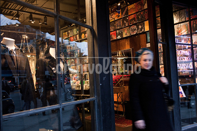 The John Varvatos store on New York City's Bowery, located in the former CBGB club..New York City, NY, November 10, 2012.