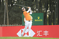 Jazz Janewattananond (THA) on the 17th tee during the final round of the WGC HSBC Champions, Sheshan Golf Club, Shanghai, China. 03/11/2019.<br /> Picture Fran Caffrey / Golffile.ie<br /> <br /> All photo usage must carry mandatory copyright credit (© Golffile | Fran Caffrey)