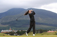 Marta Lopez Echevarria (ESP) on the 2nd tee during Round 1 of the Women's Amateur Championship at Royal County Down Golf Club in Newcastle Co. Down on Tuesday 11th June 2019.<br /> Picture:  Thos Caffrey / www.golffile.ie<br /> <br /> All photos usage must carry mandatory copyright credit (© Golffile | Thos Caffrey)