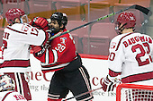 Sean Malone (Harvard - 17), Alex Rodriguez (RPI - 39) - The Harvard University Crimson defeated the visiting Rensselaer Polytechnic Institute Engineers 5-2 in game 1 of their ECAC quarterfinal series on Friday, March 11, 2016, at Bright-Landry Hockey Center in Boston, Massachusetts.