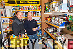 James Daly of Dalys Gala & Expert Hardware showing John Osborne some of their products.