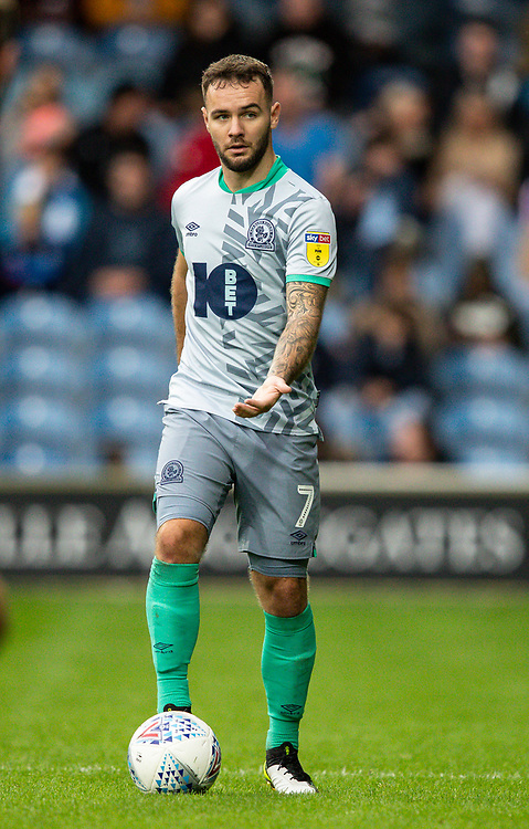 Blackburn Rovers' Adam Armstrong <br /> <br /> Photographer Andrew Kearns/CameraSport<br /> <br /> The EFL Sky Bet Championship - Queens Park Rangers v Blackburn Rovers - Saturday 5th October 2019 - Loftus Road - London<br /> <br /> World Copyright © 2019 CameraSport. All rights reserved. 43 Linden Ave. Countesthorpe. Leicester. England. LE8 5PG - Tel: +44 (0) 116 277 4147 - admin@camerasport.com - www.camerasport.com