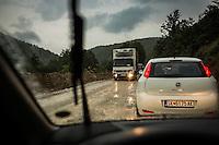 Makedonien.Skybrud over Resen ved Prespasøen. Køretur over bjergene fra Ohridsøen gennem Nacionalen Park Galicica til Prespasøen. Foto: Jens Panduro