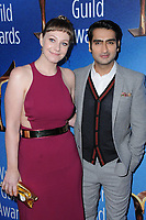 11 February 2018 - Beverly Hills, California - Emily Gordon, Kumail Nanjiani. 2018 Writer's Guild Awards held at The Beverly Hilton Hotel. <br /> CAP/ADM/BT<br /> &copy;BT/ADM/Capital Pictures