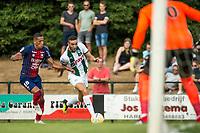 HAREN - Voetbal, FC Groningen - SM Caen, voorbereiding seizoen 2018-2019, 04-08-2018,FC Groningen speler Mimoun Mahi met Yacine Bannou