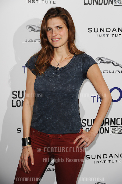 Lake Bell arriving for the Senses of Humor panel event as part of the Sundance London Festival 2013 at the O2, Greenwich, London.27/04/2013 Picture by: Steve Vas / Featureflash
